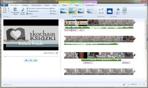`Windows Movie Maker w działaniu